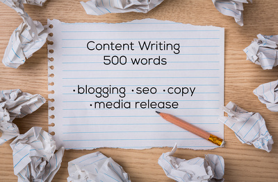 write upto 500 words in Content Writing