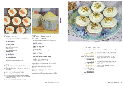 Create a cupcake recipe with photographs