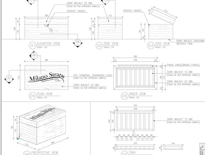 Do your furniture woodworking, millwork and joinery shop drawing