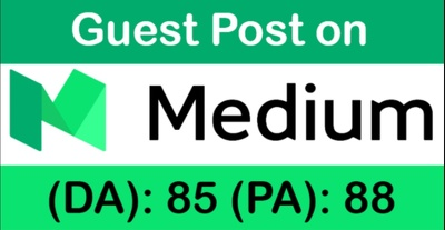 Publish Guest Post on Medium DA 81 PA 84