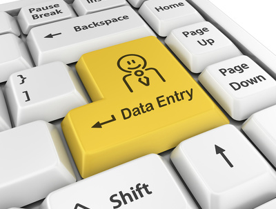 Do all types of data entry 3 hours