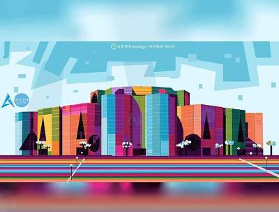 Draw wpap pop art your favorite Architectural view