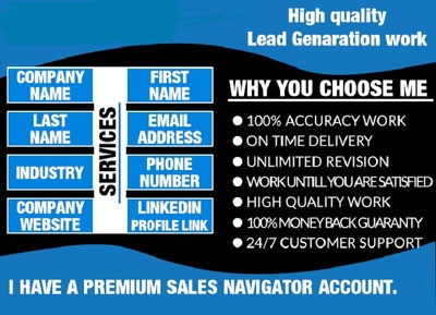 Provide You 500 Business Leads Through Linkedin Sales Navigator