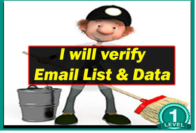 Verify email list and remove inactive emails