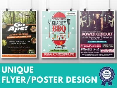 Design your professional flyer, poster, leaflet