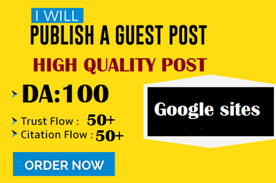 Write And Publish Post on Google Sites, Sites.google.com DA100