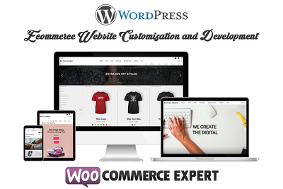 Customize and develop full wordpress ecommerce website for you