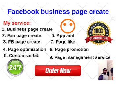 Provide you business page created