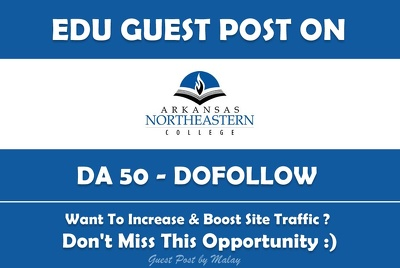 Edu Guest Post on Arkansas Northeastern College. anc.edu - DA 50