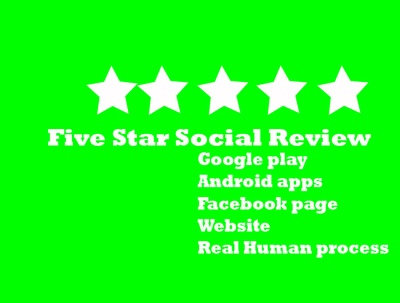 Provide 5 Social Media Positive 5 Star Review and give good rank