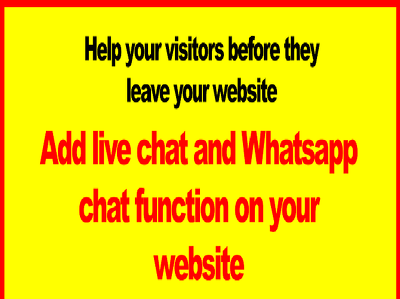 Integrate Whatsapp and live chat function