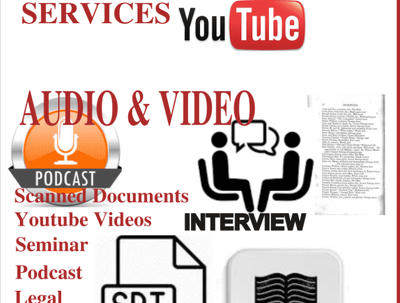 Transcribe 10 minutes audio or video