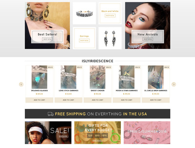 Redesign homepage of your e-store (Shopify,Volusion,BigCommerce)