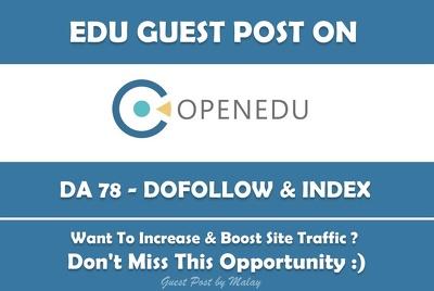 Edu Guest Post on The Open University. Open.edu - DA 78
