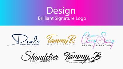 Design Brilliant Signature Logo
