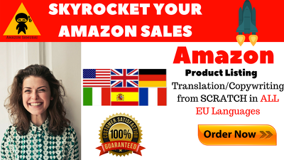 Write A Killer SEO Amazon Listing In All EU And US Markets