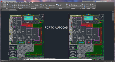Convert to Autocad any PDF drawing