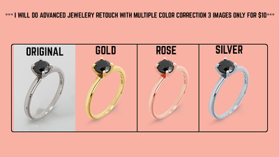 Do advanced jewelry retouching color correction 3 images