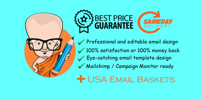 Design a Responsive HTML5 Email Template + USA Lead Baskets