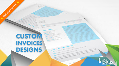 Design a custom invoice template for your business