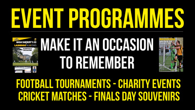 Produce an 8-page football/event programme