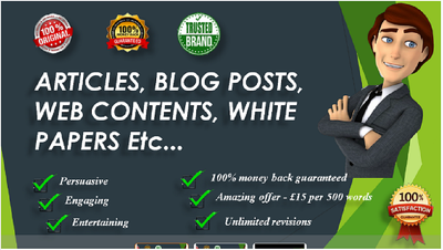 Write 500-700 words engaging SEO article on any topic.