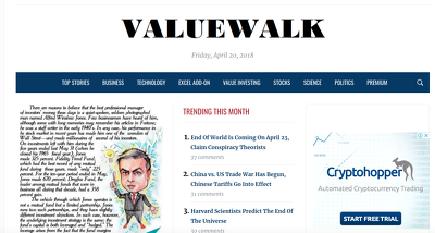 Write & Publish Guest Post on ValueWalk.com - DA75