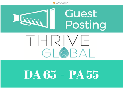 Publish Super Editorial on Thriveglobal, ThriveGlobal.com
