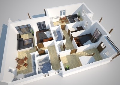 Turn your Floor plans and apartment into 3D