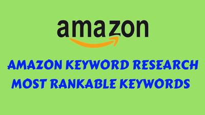 Research Amazon Keyword and Amazon affiliate keyword