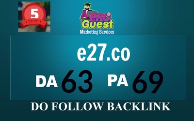 Publish A Guest Post On e27.co DA 78 PA45