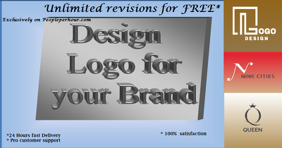 Design logo with  vector format + all source files
