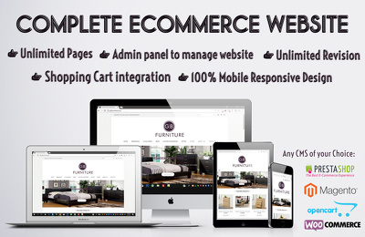 Design & Develop Custom eCommerce Website Prestashop Woocommerce