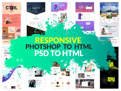 Convert photoshop PSD to Responsive HTML with Bootstrap