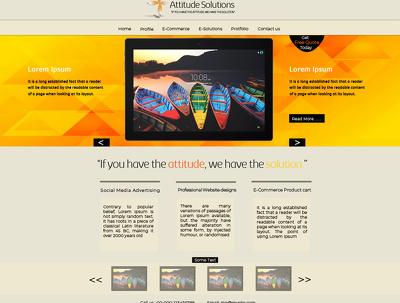 Develop a responsive landing page