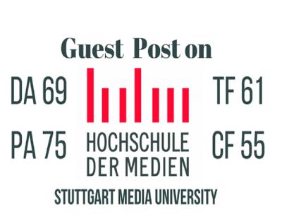Provide Guest Post On Stuttgart Media University (Stuttgart.de)