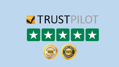 Outstanding review on Trustpilot for your business
