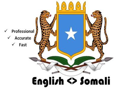 translate English To Somali 300 Words