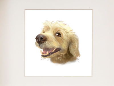 Paint a cute portrait of you pet