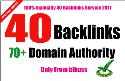 Create 40 Backlinks From Da 70 to 100, Skyrocket Your Ranking