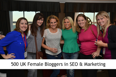 500 UK Female Bloggers in Marketing with Details (B2B Leads)