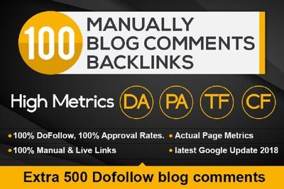 100 Dofollow Manual  Blog Comments Low Obl Pr2 To Pr7