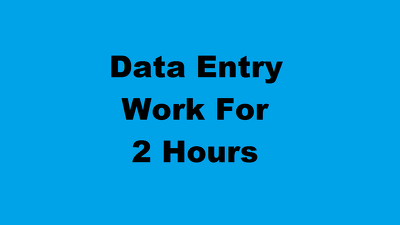 Do all types of data entry work for 2 hours.