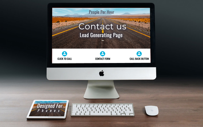 Create a quality lead encouraging wordpress contact page + map
