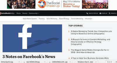 Publish a guest post on SocialMediaToday.com - DA86, PA87