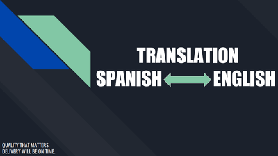 Translate from Spanish to English and vice versa(upto 500 words)