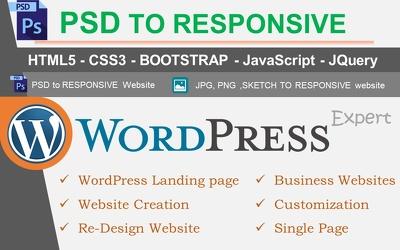 Develop a Professional Website using HTML, BootStrap, WordPress