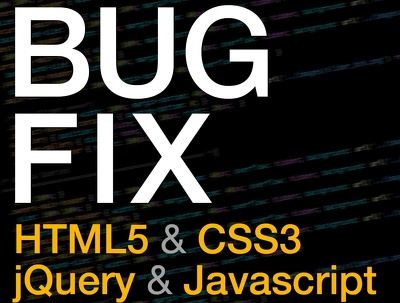 Fix any error related to Javascript, Html Or Css