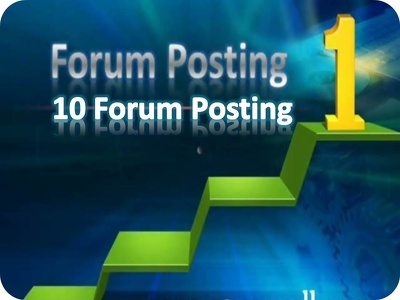Do 10 Forum Posts With Links Manually