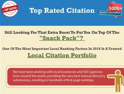 Build upto 200 PLUS HIGH QUALITY LOCAL BUSINESS CITATION for you